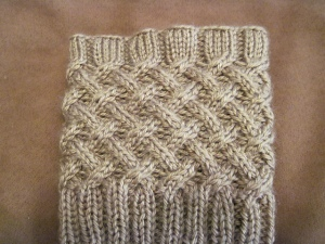 Cabled Boot Topper