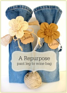 Pant Leg to Wine Bag